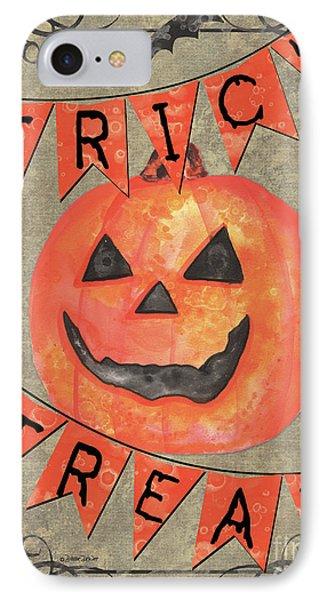 Spooky Pumpkin 1 IPhone Case by Debbie DeWitt
