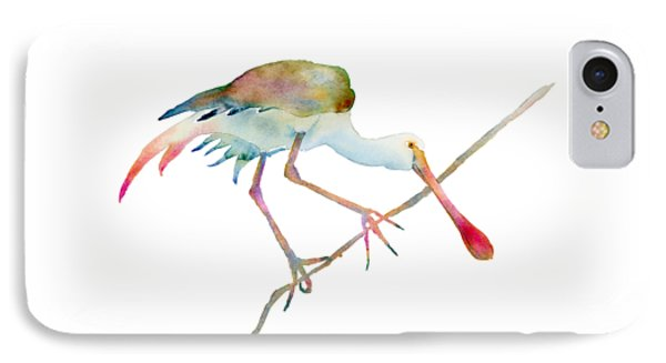 Spoonbill  IPhone Case by Amy Kirkpatrick