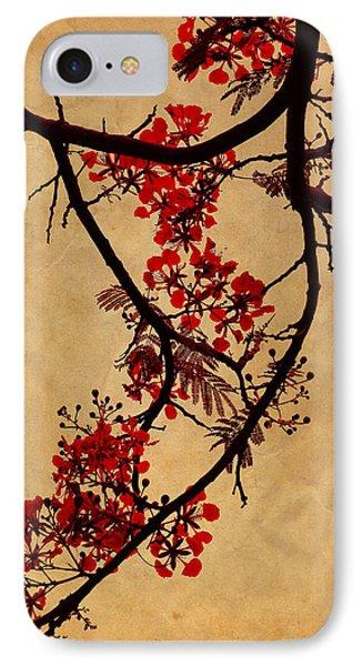 Spring Bloosom In Maldives. Flamboyant Tree I.  Japanese Style Phone Case by Jenny Rainbow