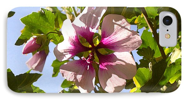 Spring Flower Peeking Out Phone Case by Amy Vangsgard