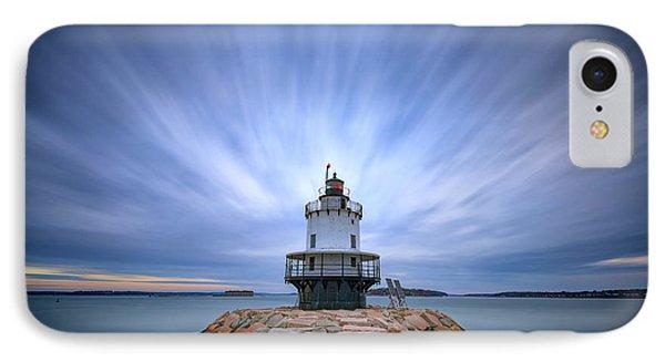 Spring Point Ledge Light Station IPhone Case by Rick Berk