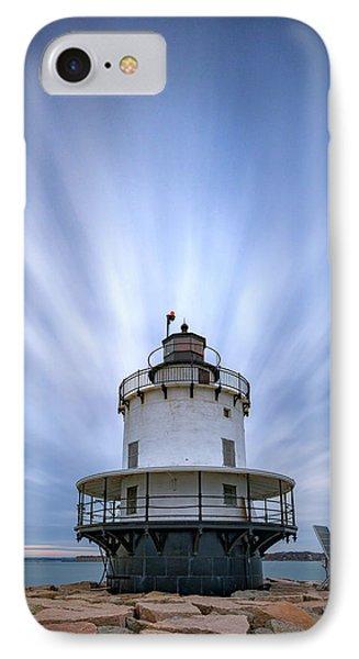 Spring Point Ledge Lighthouse IPhone Case by Rick Berk