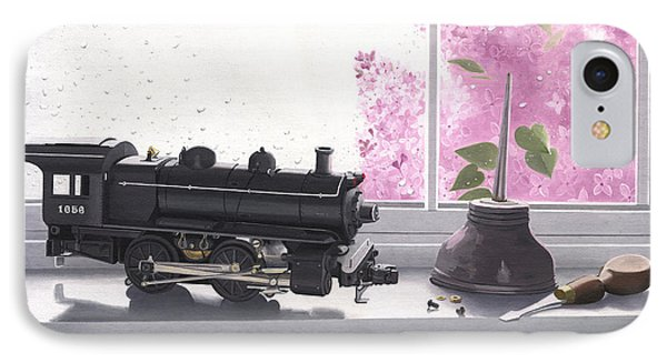 Spring Rain  Electric Train Phone Case by Gary Giacomelli
