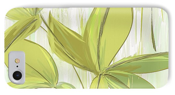 Spring Shades - Muted Green Art IPhone 7 Case by Lourry Legarde