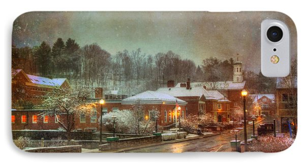 Spring Snow In Peterborough Nh IPhone Case by Joann Vitali