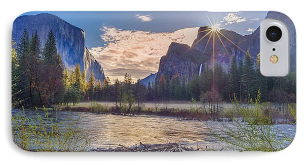Spring Sunrise At Yosemite Valley IPhone Case by Scott McGuire