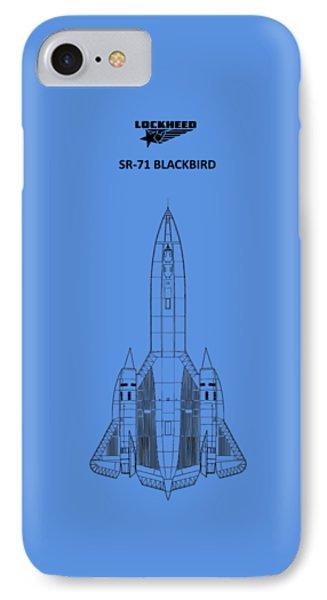 Sr-71 Blackbird IPhone 7 Case by Mark Rogan