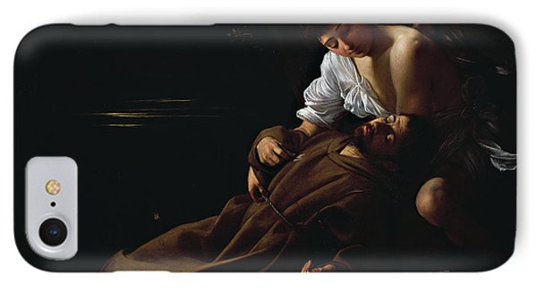 St Francis Being Comforted By An Angel After Receiving Stigmata IPhone Case by Caravaggio