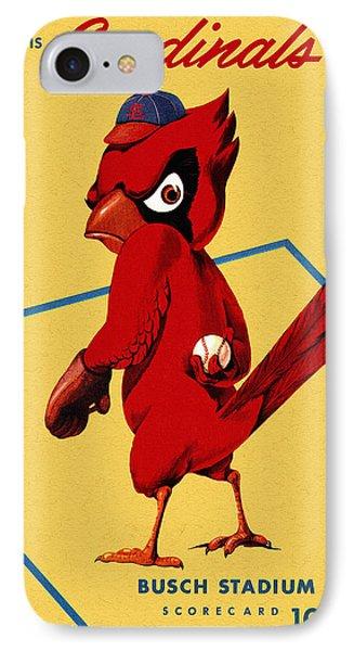 St. Louis Cardinals Vintage 1956 Program IPhone Case by Big 88 Artworks