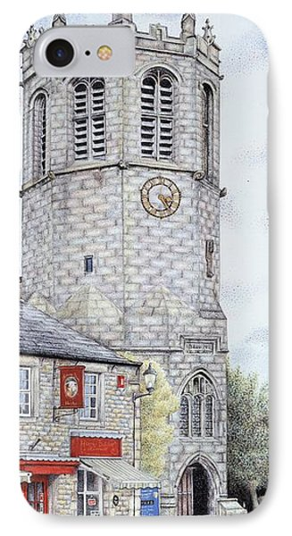 St Margarets Church Clock  Hornby  Lancashire IPhone Case by Sandra Moore