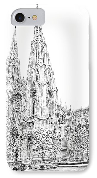 St Patricks Cathedral IPhone Case by Anthony Butera