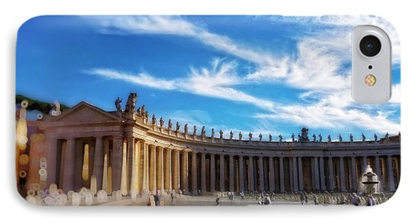 St Peters Square, Vatican City IPhone Case by HD Connelly