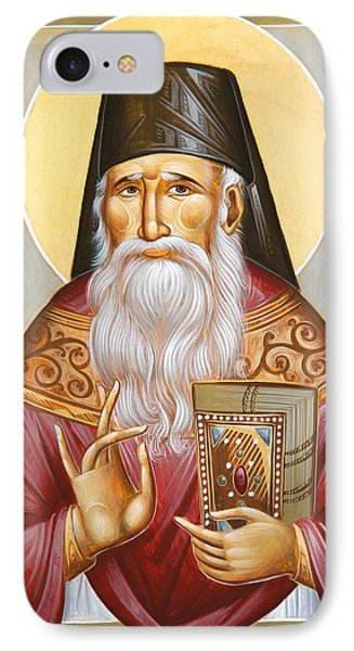St Porphyrios Of Kavsokalyvia IPhone Case by Julia Bridget Hayes
