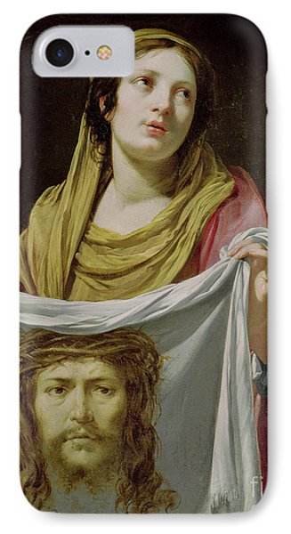 St. Veronica Holding The Holy Shroud Phone Case by Simon Vouet