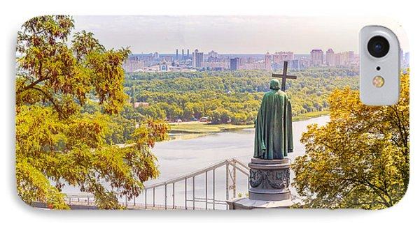 St Vladimir, Monument In Kiev IPhone Case by Alain De Maximy