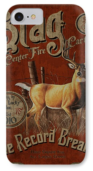 Stag Record Breaker Sign Phone Case by JQ Licensing