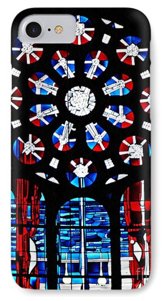 Stained Glass Window At St Boniface Church  IPhone Case by Sarah Loft
