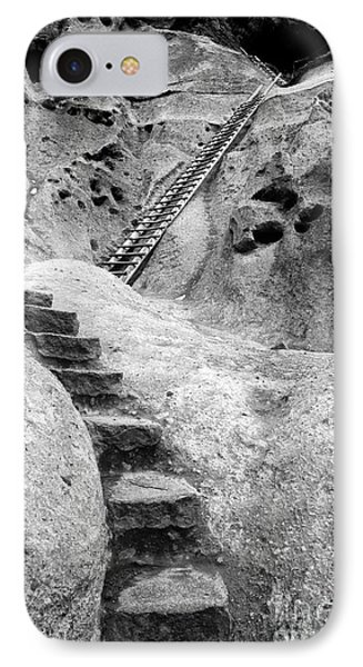 Stairways To The Kiva Phone Case by Sandra Bronstein