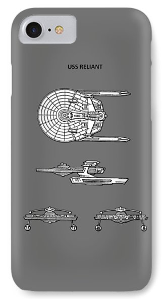Star Trek - Uss Reliant Patent IPhone Case by Mark Rogan