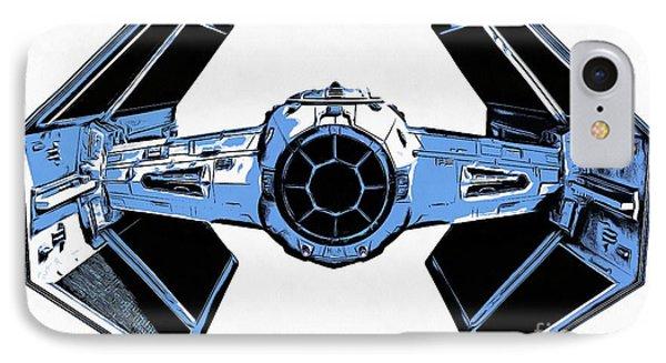 Star Wars Tie Fighter Advanced X1 IPhone Case by Edward Fielding