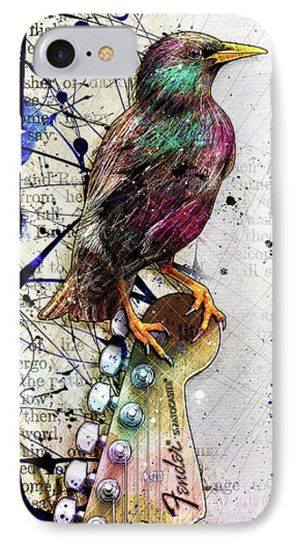 Starling On A Strat IPhone 7 Case by Gary Bodnar
