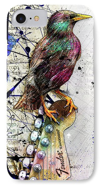 Starling On A Strat IPhone Case by Gary Bodnar