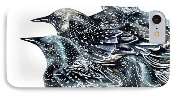 Starlings IPhone 7 Case by Marie Burke