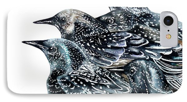 Starlings IPhone Case by Marie Burke