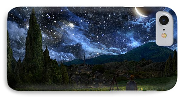 Starry Night IPhone 7 Case by Alex Ruiz