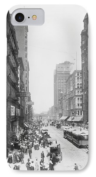 State Street - Chicago 1900 IPhone Case by Daniel Hagerman