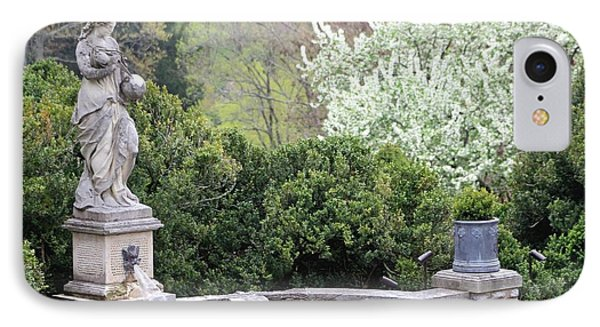 Statue At Cheekwood IPhone Case by Gayle Miller