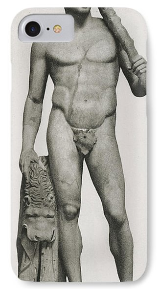 Statue Of Hercules IPhone Case by Roman School