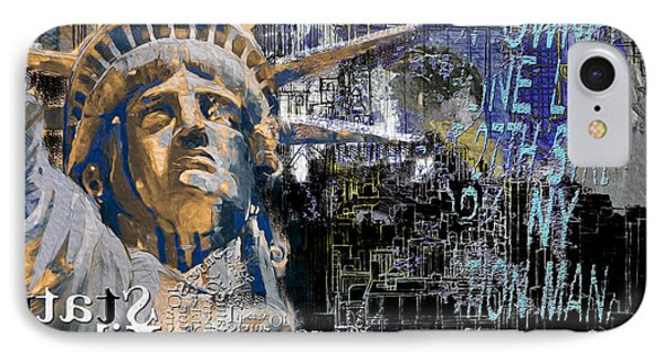 Statue Of Liberty 204 1 IPhone Case by Mawra Tahreem