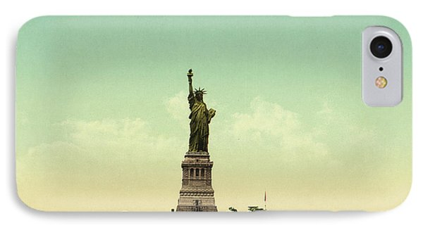 Statue Of Liberty, New York Harbor IPhone 7 Case by Unknown