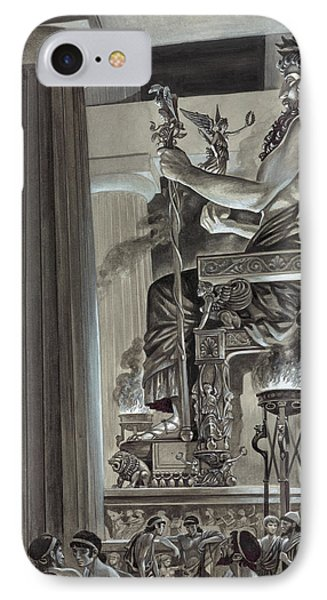 Statue Of Zeus At Olympia IPhone Case by Peter Jackson