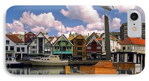 Stavanger Harbor Phone Case by Sally Weigand