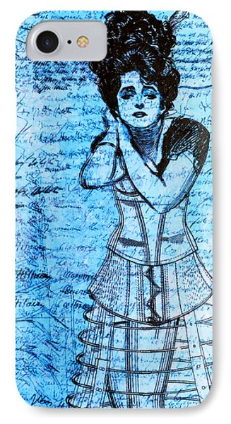 Steampunk Girls In Blues IPhone Case by Nikki Marie Smith