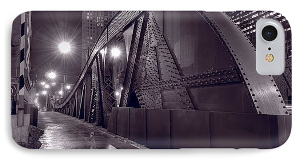 Steel Bridge Chicago Black And White Phone Case by Steve Gadomski