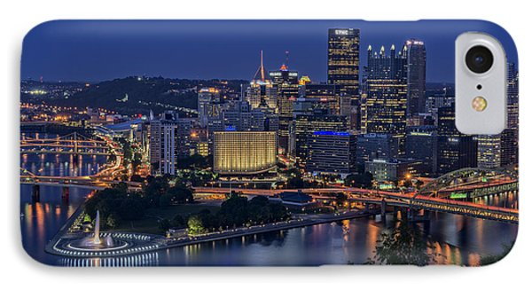 Steel City Glow IPhone Case by Rick Berk