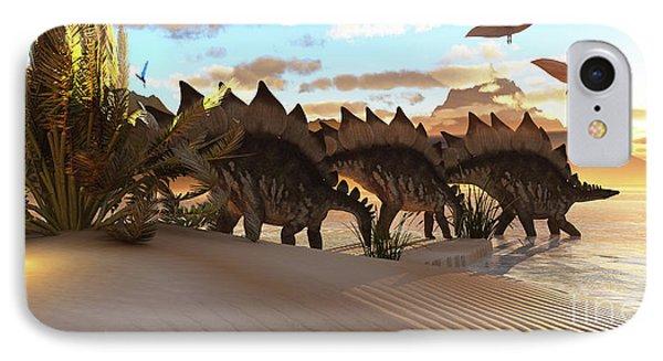 Stegosaurus Dinosaur Phone Case by Corey Ford