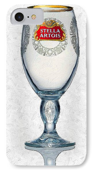 Stella Artois Chalice Painting Collectable IPhone Case by Tony Rubino