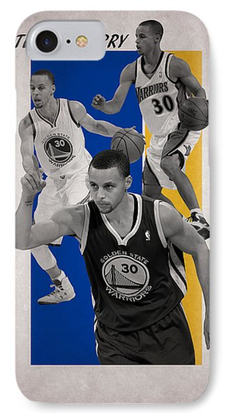 Stephen Curry Golden State Warriors IPhone Case by Joe Hamilton