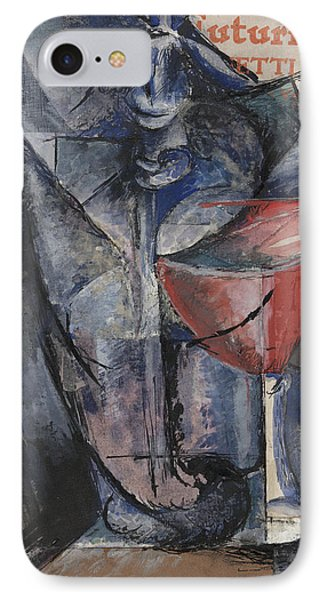Still Life  Glass And Siphon IPhone Case by Umberto Boccioni