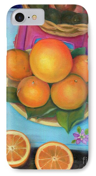 Still Life Oranges And Grapefruit Phone Case by Marlene Book