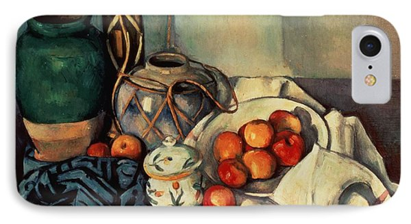 Still Life With Apples IPhone Case by Paul Cezanne