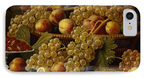 Still Life With Fruit, 1854 IPhone Case by Severin Roesen