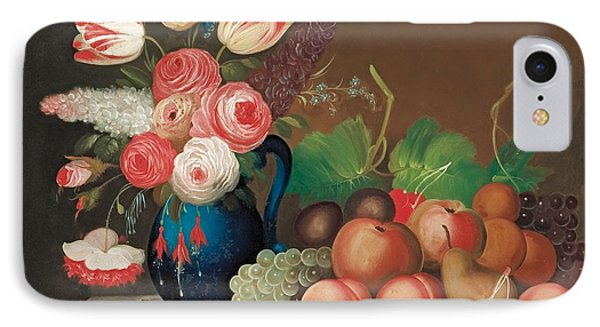 Still Life With Fruit And Flowers IPhone Case by William Buelow Gould