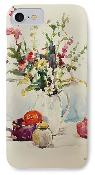 Still Life With Pomegranate IPhone Case by Becky Kim