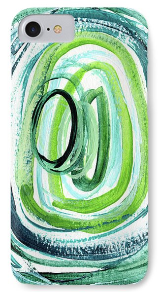 Still Orbit 9- Abstract Art By Linda Woods IPhone Case by Linda Woods