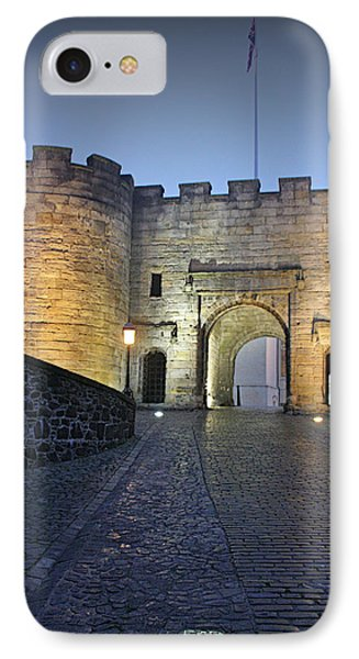 Stirling Castle Scotland In A Misty Night Phone Case by Christine Till